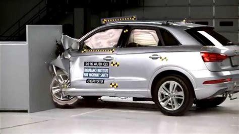 Audi Q3 Crash Test by Iihs 2016 Audi Q3 Small Overlap Crash Test