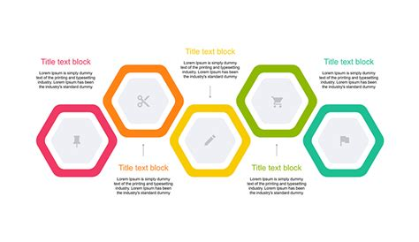 powerpoint tutorial step by step pdf hexagon diagram 5 step for ppt free download now