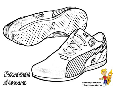boys running shoes free colouring pages