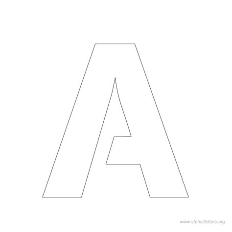 template for alphabet stencils letter a stencil new calendar template site