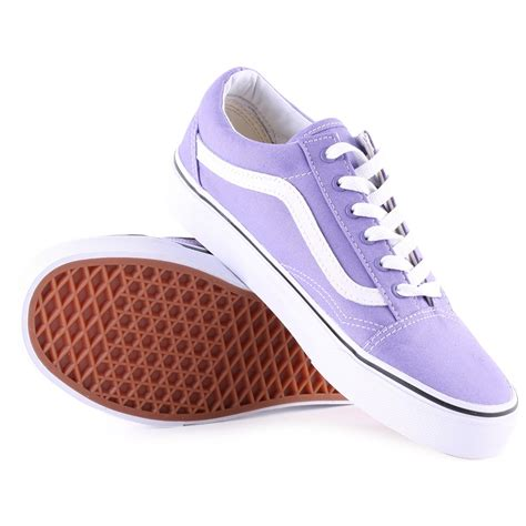light purple vans skool vans skool womens skate trainers in light purple