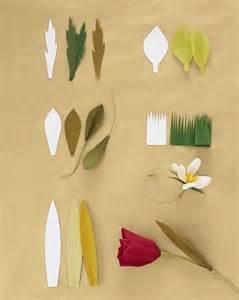 martha stewart leaf template how to make crepe paper flowers martha stewart