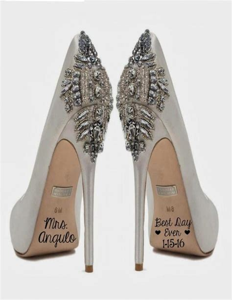 5 Wedding Day Shoes For Every Budget by Best Day Custom Wedding Shoe Decal With Date And