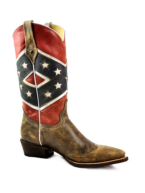 confederate flag boots s roper southern flag snip toe boot 09 021 7001 0137