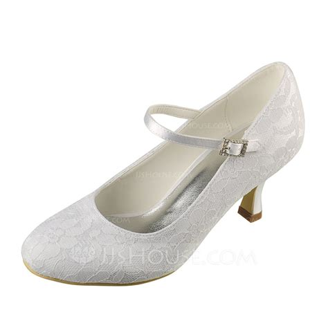 jjs house shoes women s lace satin spool heel closed toe pumps 047092151 wedding shoes jjshouse