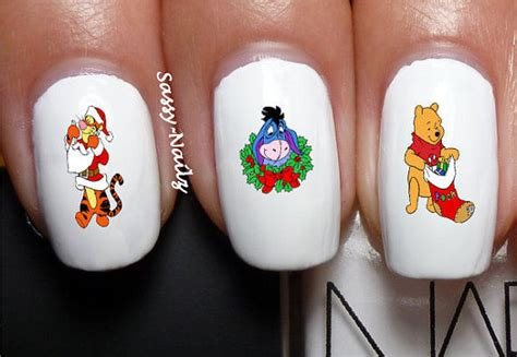 Winnie The Pooh Nail Sticker sassynailzireland your favourite characters on your nails the upcoming