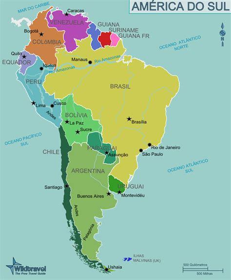 mapa a america do sul argentina pa 237 s da am 233 rica do sul ig10