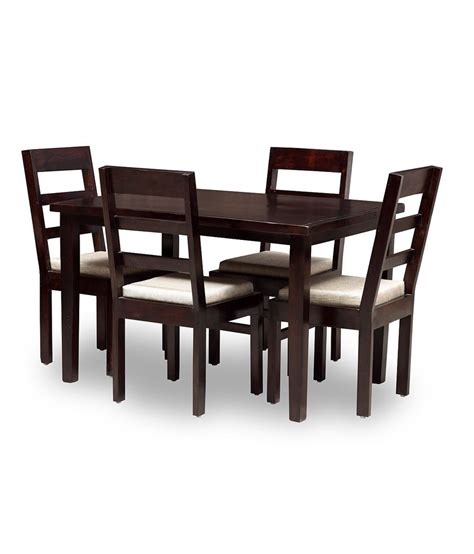Nilkamal Dining Table Chairs Price Solid Wood 4 Seater Dining Set Buy Solid Wood 4 Seater Dining Set At Best Prices In