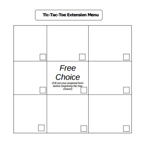 Tic Tac Toe Template For Teachers by 20 Tic Tac Toe Sles Sle Templates