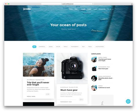 best designed blog 30 best personal blog wordpress themes 2017 colorlib