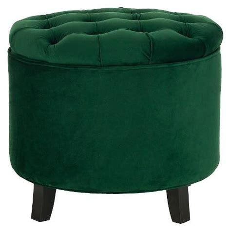 round green ottoman green button tufted large round velvet storage ottoman