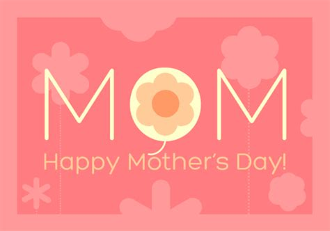 happy mothers day card template 25 images of word card template lastplant