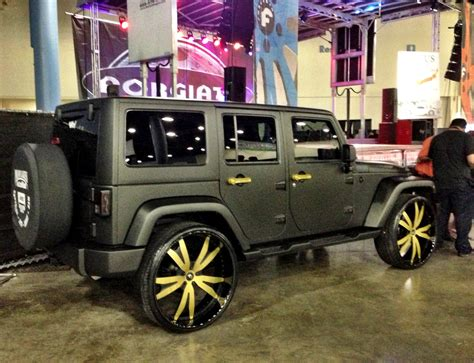 gold jeep ace hood s black on gold jeep wrangler celebrity cars blog