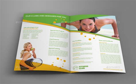 membership brochure template fitness gym bi fold brochure
