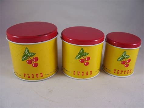 canisters astounding tin canister set vintage tin