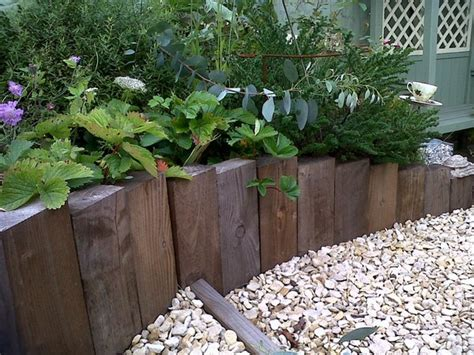 Timber Garden Edging Ideas with 37 Creative Lawn And Garden Edging Ideas With Images Planted Well