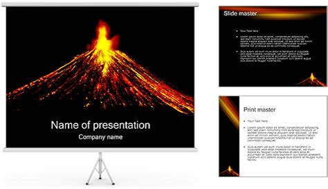 volcano powerpoint template backgrounds id 0000001053