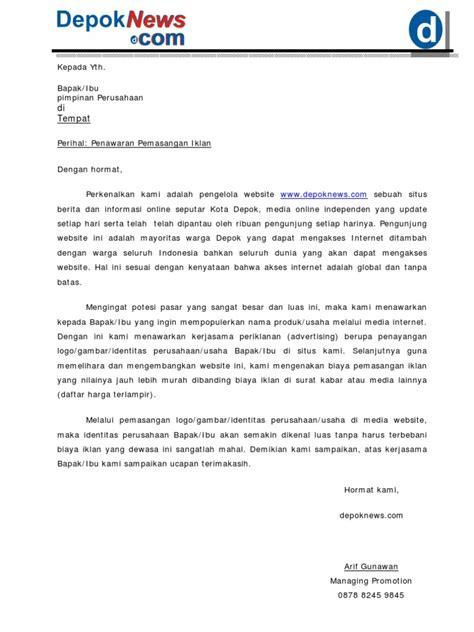 Contoh Surat Penawaran Penjualan Komputer by Contoh Contoh Iklan Penawaran Contoh Sur