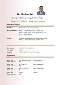 dr jibachha sah biodata
