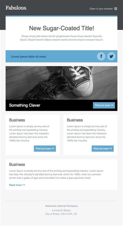 free electronic newsletter templates 17 best images about html css and design on