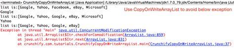 tutorial java util when should i use copyonwritearraylist vs arraylist in