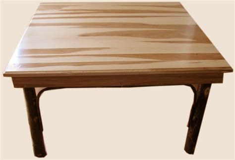 Hickory Dining Room Table by Amish Hickory Dining Table