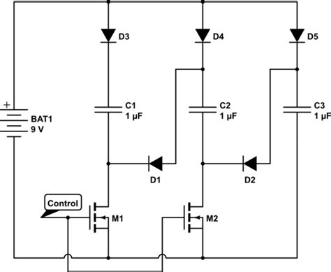 capacitor in series diagram capacitor solid state circuit to charge caps in parallel then discharge in series
