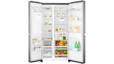 Non Plumbed Water Dispenser by Lg 668l Side By Side Fridge With Non Plumbed Water