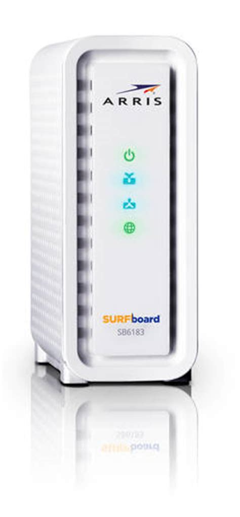 arris surfboard sb6190 lights arris surfboard 16x cable modem white sb6183 target