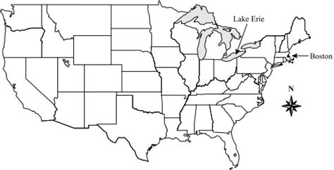 united states map and compass usa map with states and cities boston www