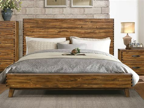 wooden platform bed homelegance sorrel solid wood platform bed