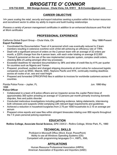 resume sles for career change professionally written resume sles rwd