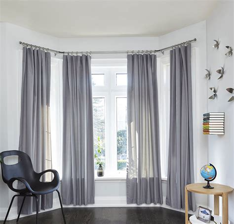 how to hang bay window curtain rods bay window curtain rod in curtain rods and hardware