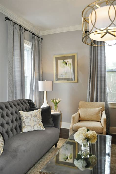 grey formal living room  gold accents google search