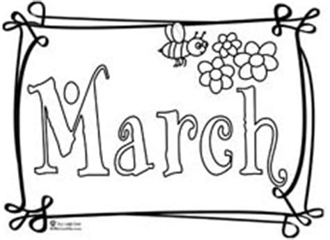 march coloring pages pdf kids educational music months coloring pages teacher