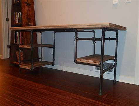 black iron pipe desk iron pipe desk search the office