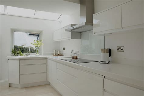 Grey Home Interiors by Modern High Gloss Kitchen Bentleys Interiors