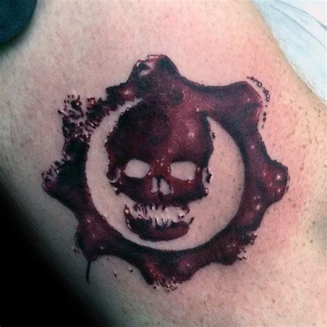 gears of war tattoos 50 gears of war designs for ink ideas