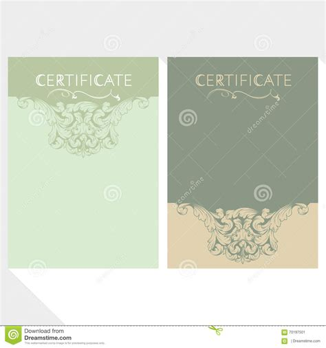 diploma and certificate design template stock photo