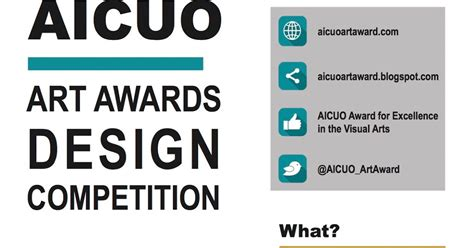 design competition nu aicuo award for excellence in the visual arts 2017