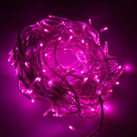 10m Pink Led Fairy Lights Festive Lights 10m Lights