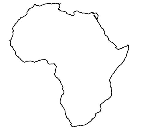 36 best africa map outline images on outline map of africa hd with africa map template best