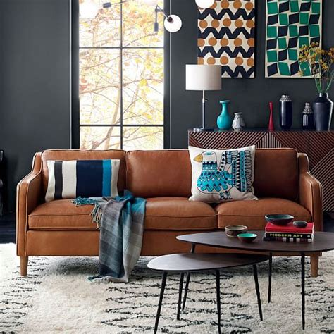 elm hamilton leather sofa hamilton leather sofa elm