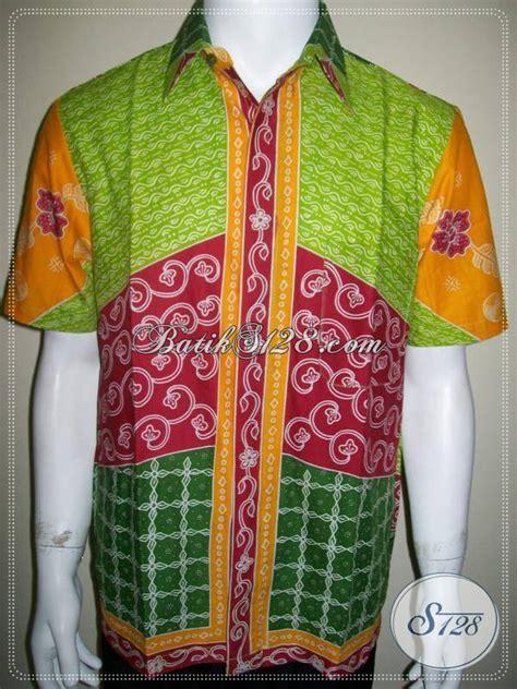 Setelan Anak 469 kemeja batik gaul warna warni keren batik remaja pria