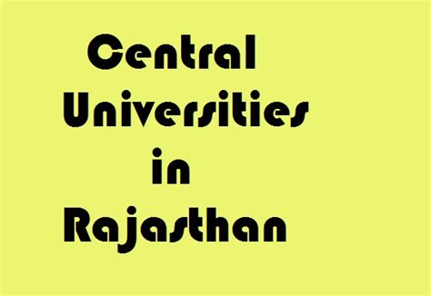 Government Mba College In Rajasthan by Central Universities In Rajasthan Govt Info