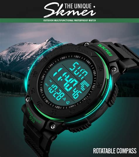 Skmei Jam Tangan Digital Casual Pria Silicone Dg1213 Army Green H579 skmei jam tangan digital pria dg1237 black jakartanotebook