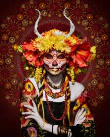 las muertas deadly pose in colorful tribute to
