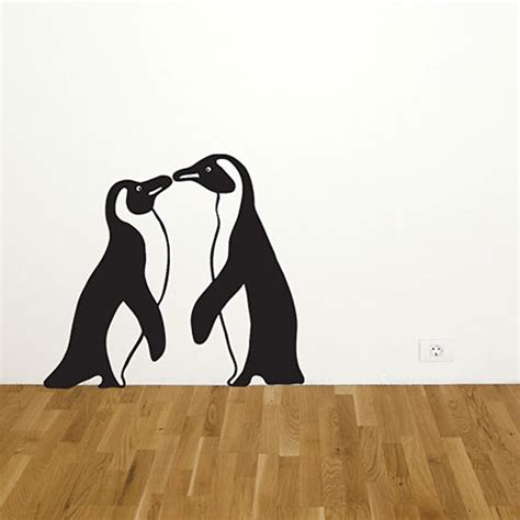 Stiker Pinguin penguin wall sticker set penguin wall decor