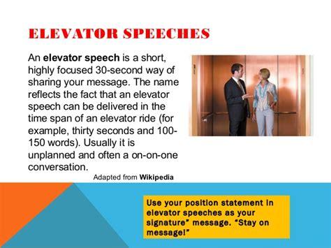 sle of elevator speech elevator speeches pertamini co