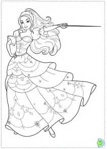 barbie musketeers az coloring pages